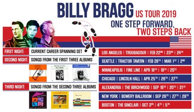 Billy Bragg US Tour 2019 Poster