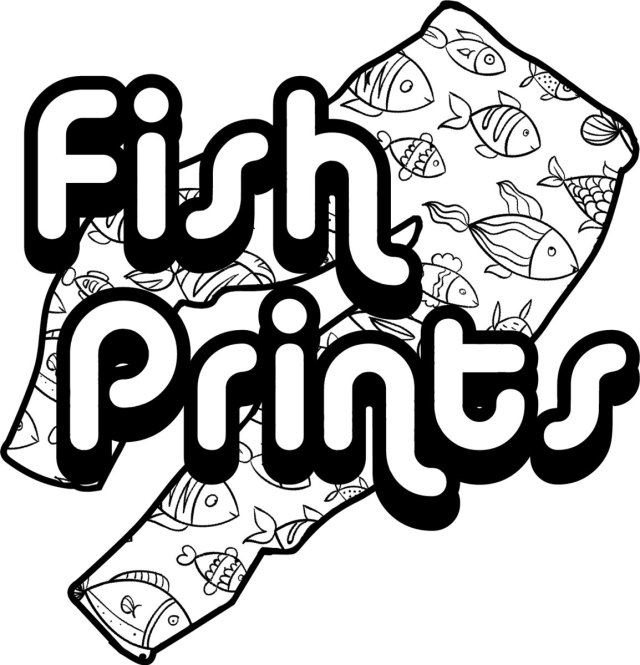 Fish Prints Label Logo