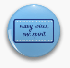 Many Voices One Spirit Pin