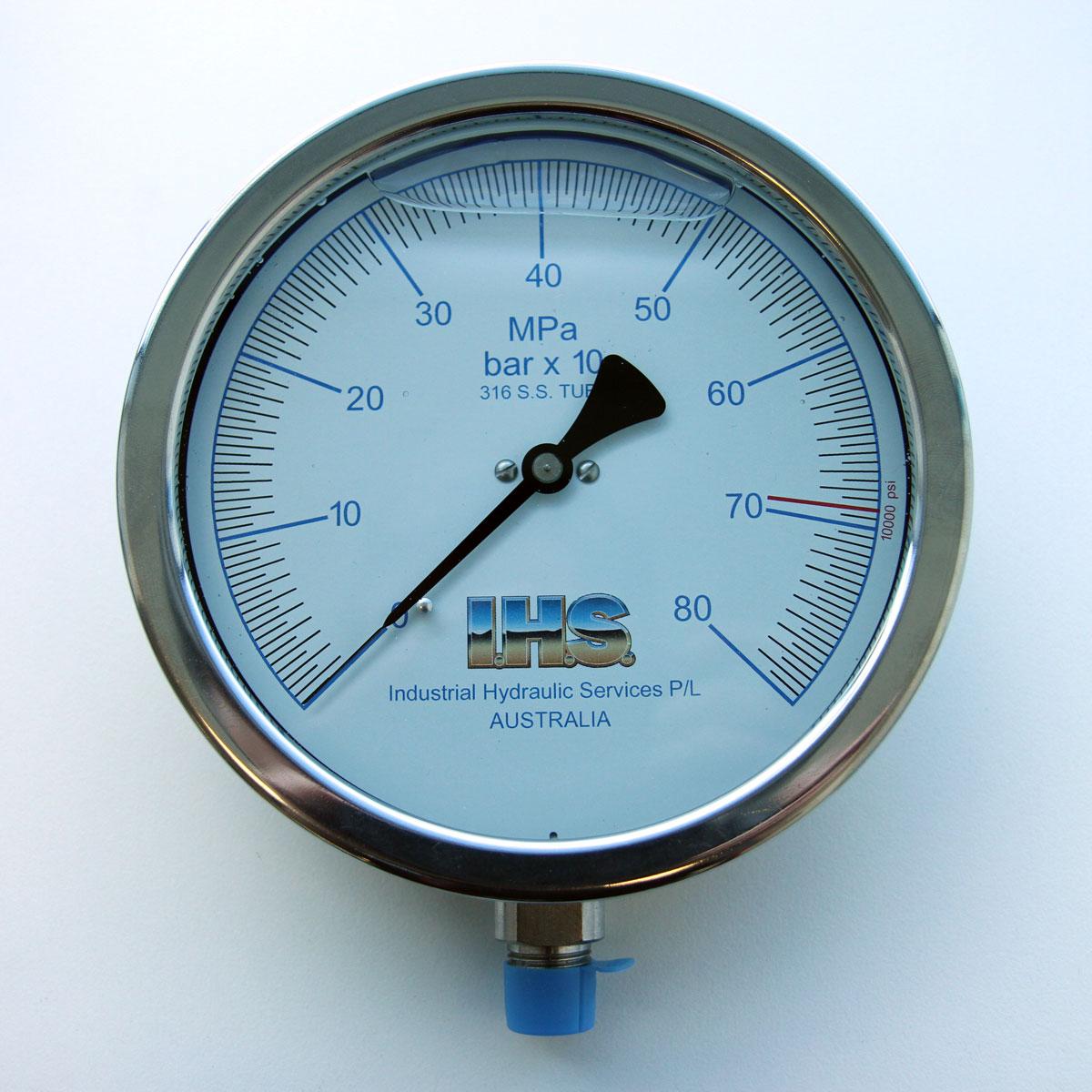 "IHS 6"" Analogue Pressure Gauge"