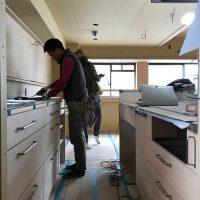 大工さんの造作工事が終わり、内装仕上げへ