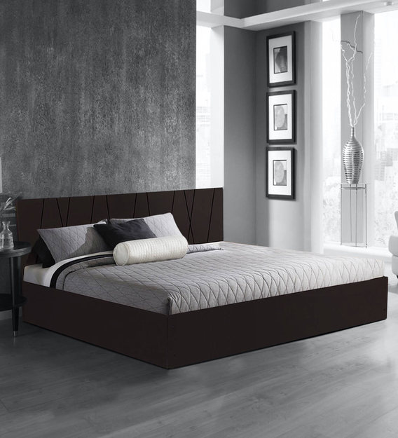 axis king size bed with storage in matte finish