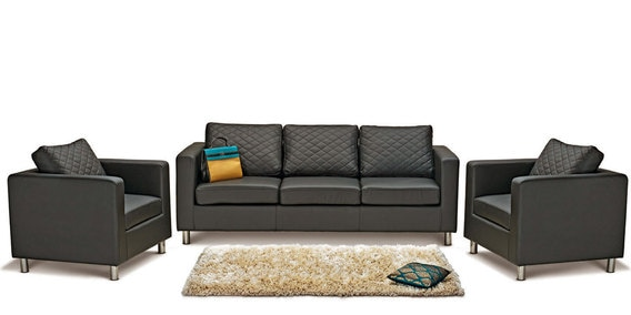Buy Carbo Sofa Set  3 1 1  Seater in Black Colour by Godrej Interio     Carbo Sofa Set  3 1 1  Seater in Black Colour by Godrej