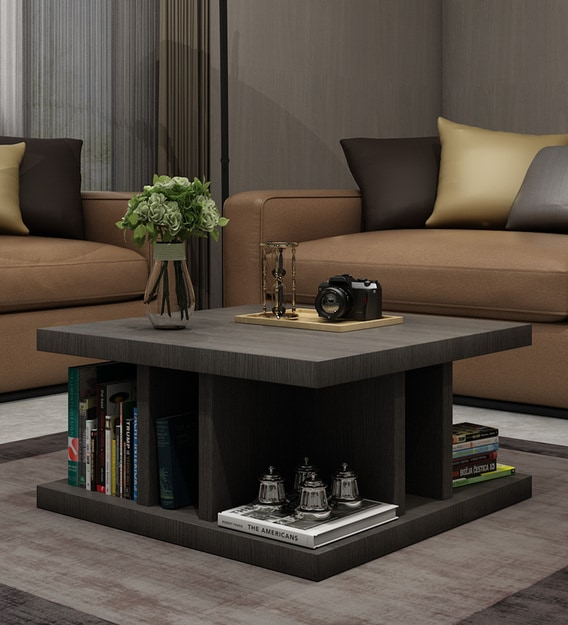 Buy Designer Coffee Table In Wenge Finish By Exclusive Furniture Online Square Coffee Tables Tables Furniture Pepperfry Product