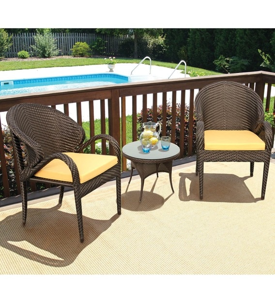 fine living two seater outdoor balcony set