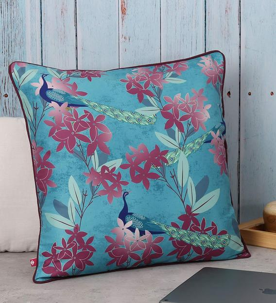 satin floral pattern 16x16 inch cushion cover