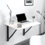 Buy Folding Wall Mounted Study Table Large In Glossy White Colour By Futur Decor Online Modern Writing Tables Tables Furniture Pepperfry Product