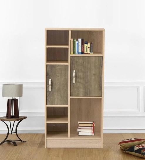 Buy Kazuki Book Shelf Cum Filing Cabinet In Oak Finish By
