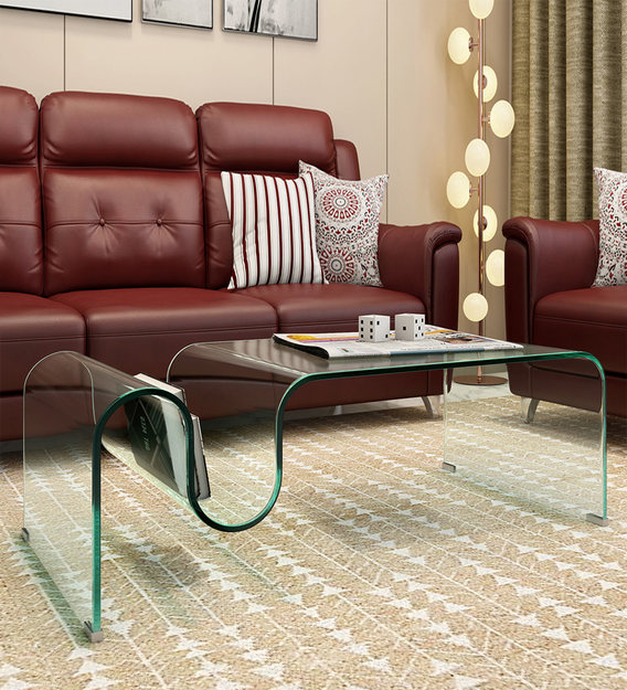 kira tempered glass coffee table