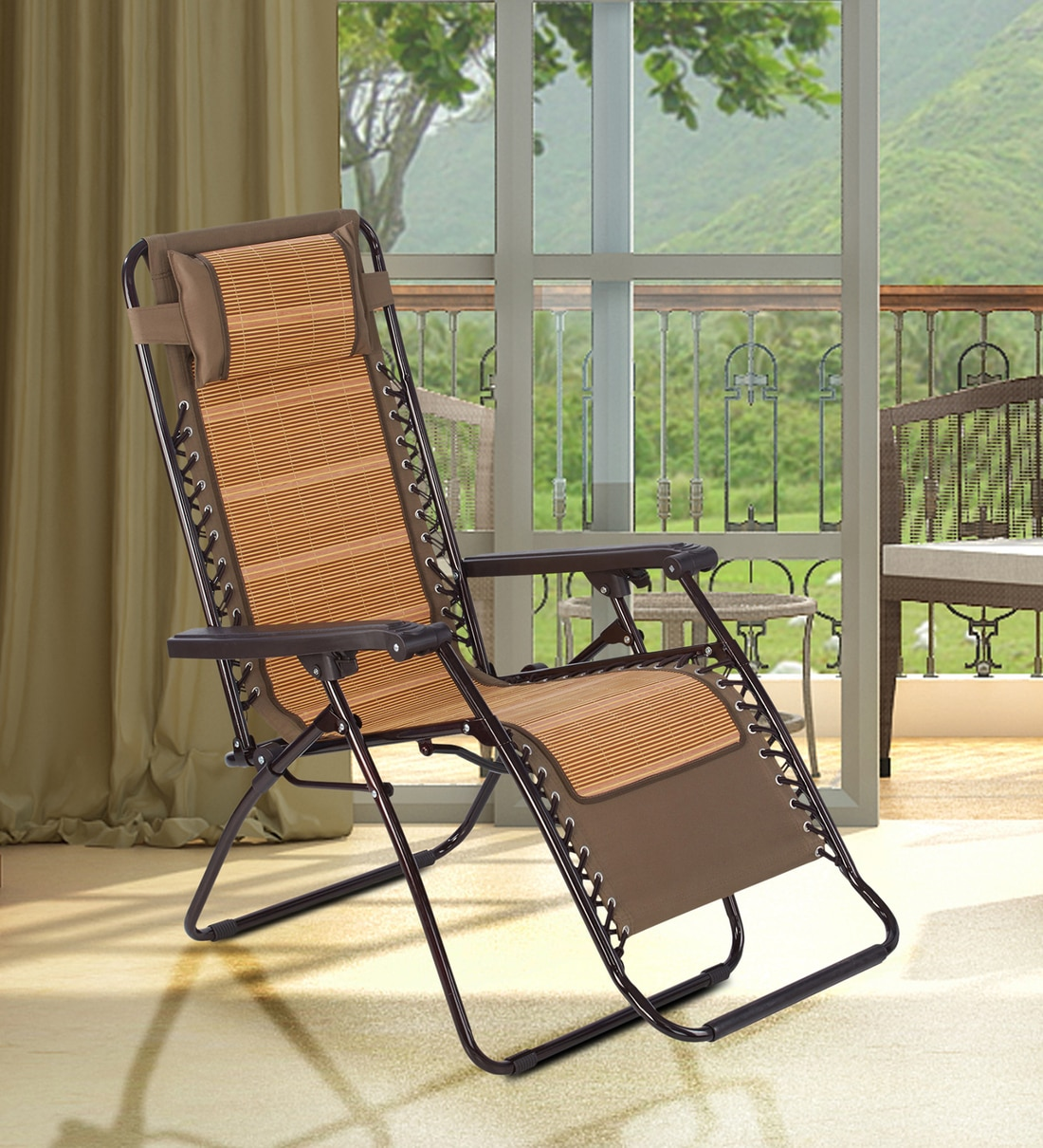 lounge new patio chair in bamboo colour
