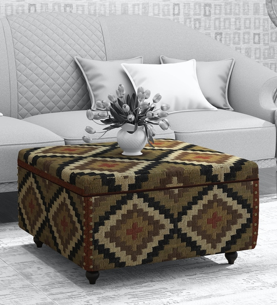 meredith upholstered coffee table with chestnut base