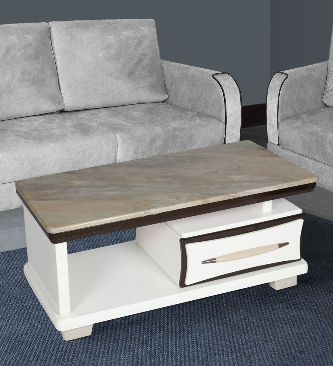 modern marble top center table