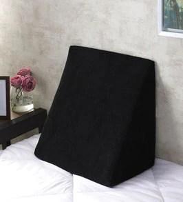 orthopedic memory foam 18x18 bed wedge in black