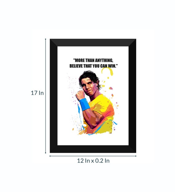 rafael nadal legend of tennis framed poster 12 x 17 inches