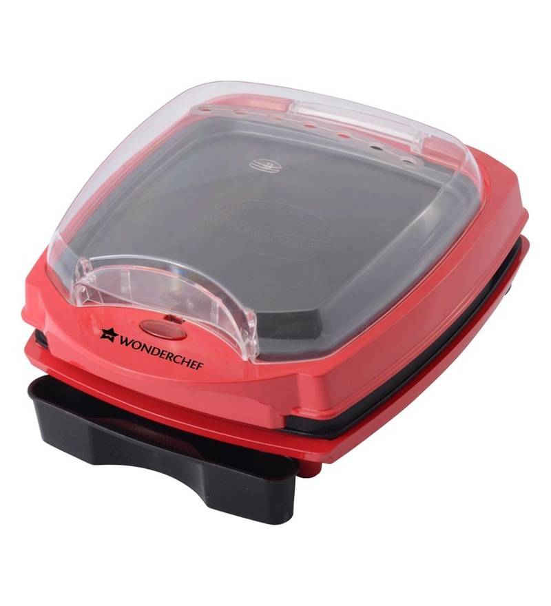 Buy 1000W Burger And Grill Master Red And Black Online