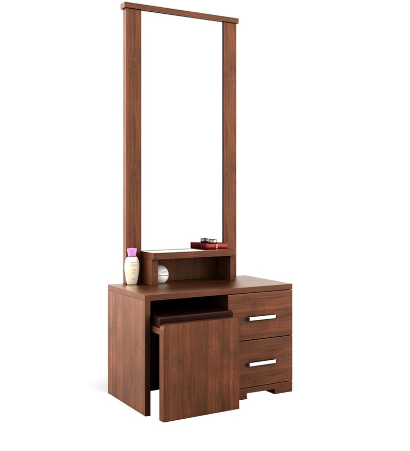 Buy Kosmo Arena Dressing Table With Stool In Rigato Walnut