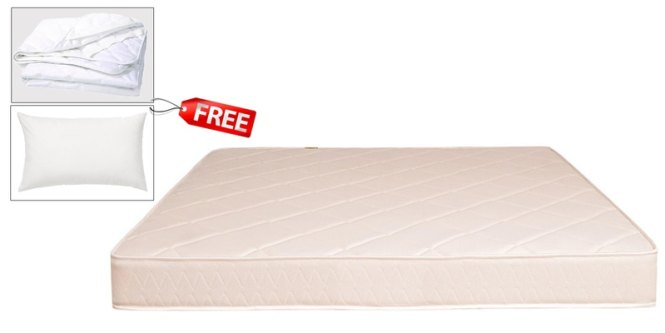 Boom Health Queen Size 78x60 5 Inches Thick Semi Firm Mattress Free