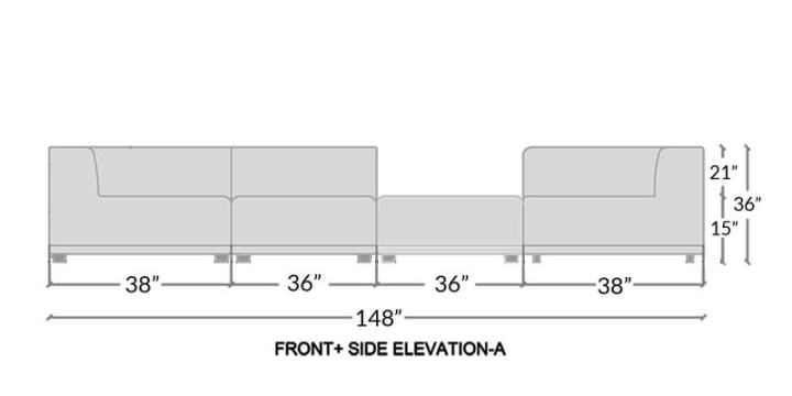 Front Elevation Of Sofa : Front elevation of l shaped sofa conceptstructuresllc