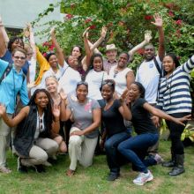 University students on study abroad program in Santo Domingo