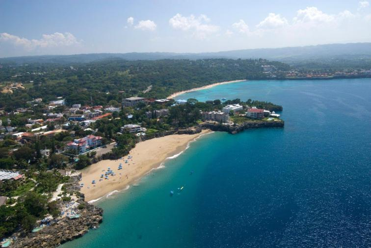 Aerial view of Sosua