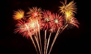 Fireworks are shot into the nightly sky of the Dominican Republic as one of the many Dominican New Year's Traditions.
