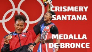Crismery Santana is the first Dominican woman to win an Olympic medal at the Summer Olympic Games in Tokyo 2020.