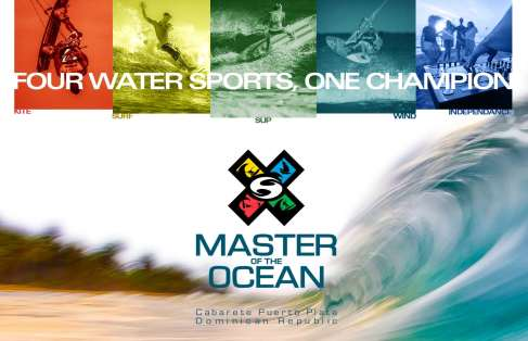 Master of the Ocean promotion 2021 shows the 4 disciplines watersports athletes compete in Cabarete, Dominican Republic, 14 to 18 September.