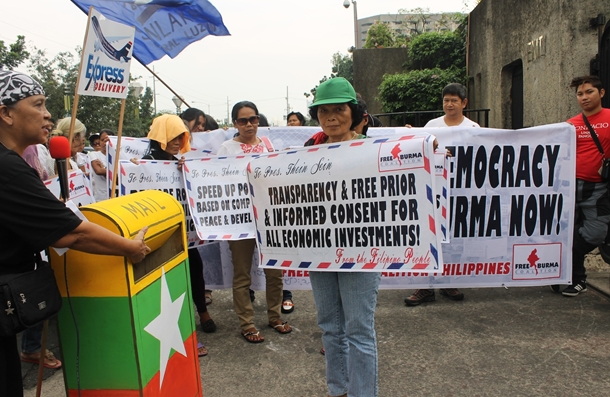 Filipino solidarity activists call for inclusion of genuine peace and democratization in Burma in PH-MYA bilateral talks