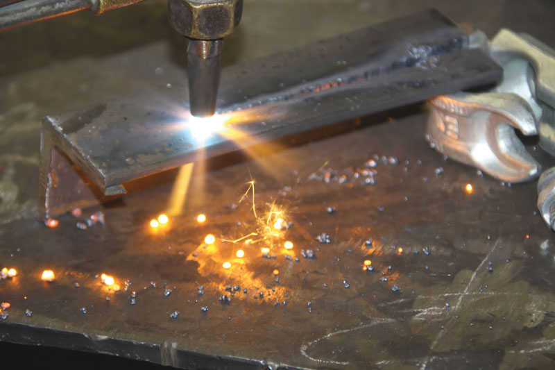 Acetylene Gas torch used in welding