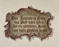 """Hausspruch: """"Das Schönste im Leben das Gott kann geben ist ein ..."""