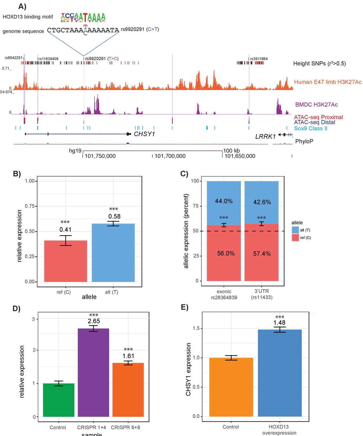 Epigenetic Profiling Of Growth Plate Chondrocytes Sheds Insight Into Regulatory Genetic