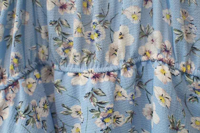 65b32f30fe4 Candy blue Floral tiered summer dress
