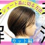 【ディスコネクトカット ショートボブ 切り方】多毛・くせ毛の方におすすめ!美容師向けヘアカット動画