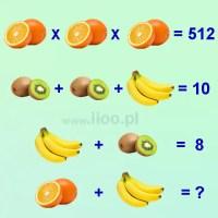 Owocowa zagadka logiczna 8