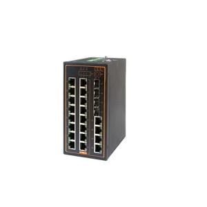 EH7520 Series : 20-Port Industrial Managed Fast-Ethernet PoE Switch with Gigabit Uplinks,