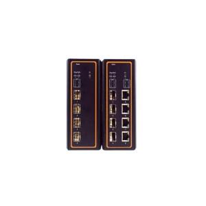 EHG7504 Series : 4-Port Industrial Managed Gigabit PoE Switch, Profinet certified, DIN-Rail Mount