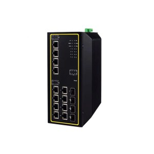 EHG7616 Series : 16-Port High-Bandwidth Industrial Managed Layer-3 Gigabit PoE Switch