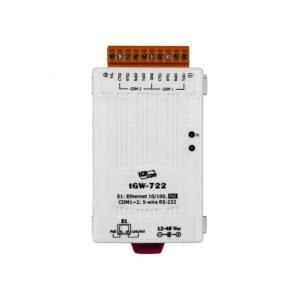ICP DAS tGW-722 CR : Tiny/Gateway/Modbus RTU/TCP/PoE/2 RS-232