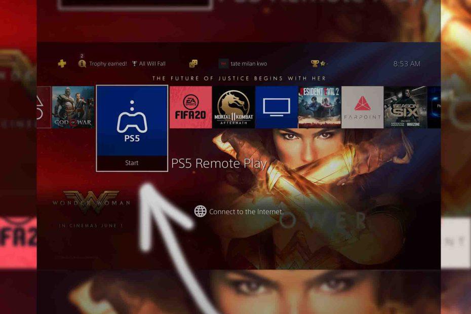 PS5 remote play app