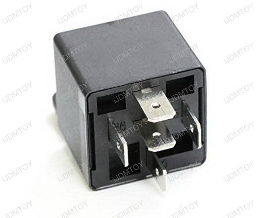 5-Pin 12V 40A SPDT Relay Socket Wire Car Fog Light DRL Lamps