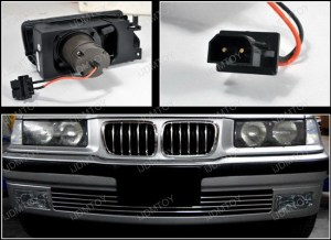 19921998 BMW E36 3SERIES Euro Smoke Housing Projector