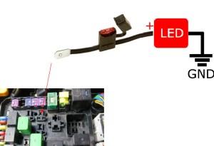 Diagram For LED Daytime Running Lights & Finding ACC 12V Power