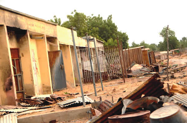 Ruins-of-a-building-set-ablaze-by-suspected-Boko-Haram-militants