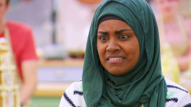 Nadiya Hussain, a contestant on 'The Great British Bake Off'. Broadcast on BBC1 HD. Featuring: Nadiya Hussain Where: United Kingdom When: 23 Sep 2015 Credit: Supplied by WENN **WENN does not claim any ownership including but not limited to Copyright, License in attached material. Fees charged by WENN are for WENN's services only, do not, nor are they intended to, convey to the user any ownership of Copyright, License in material. By publishing this material you expressly agree to indemnify, to hold WENN, its directors, shareholders, employees harmless from any loss, claims, damages, demands, expenses (including legal fees), any causes of action, allegation against WENN arising out of, connected in any way with publication of the material.**