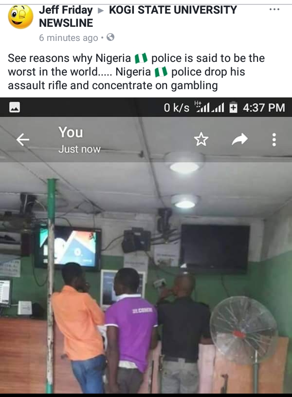News] Nigerian Police Officer abandons Service Rifle to