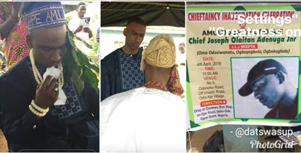 E!News] Skepta Installed As Chief Amuludun Of Odo-aje In Ijebu Ode