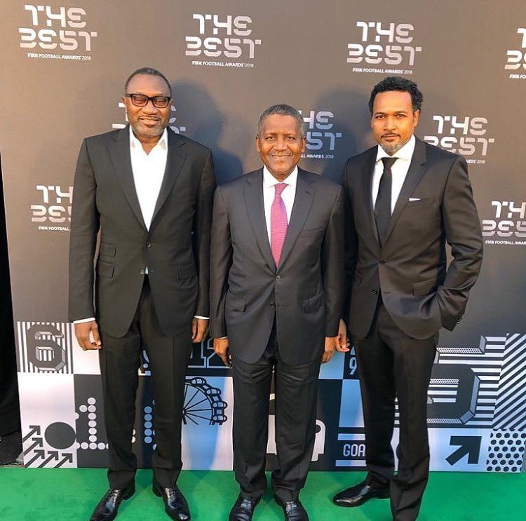 Otedola, Dangote And Cecil Hammond At FIFA Best Awards Tonight (Photo)