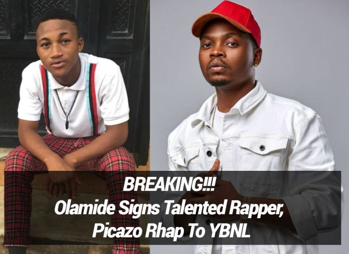 Olamide Signs Talented Rapper, Picazo Rhap To YBNL