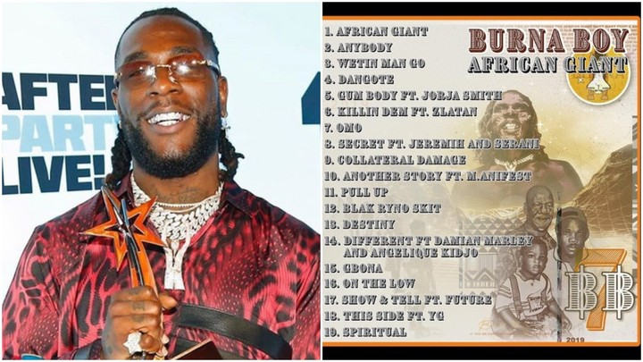 Burna Boy's 'African Giant' Tops Chart On Apple Music In
