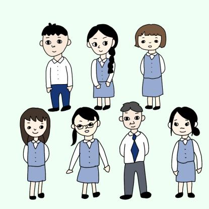 医療事務の男女比
